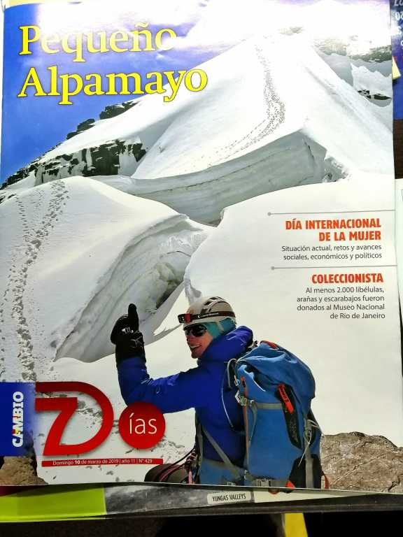 WEEKLY MAGAZINE WITH BOLIVIAN MOUNTAINEERING